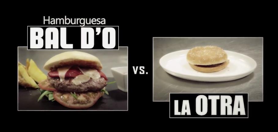 compara la gran hamburguesa de bal d´o con otras de la competencia